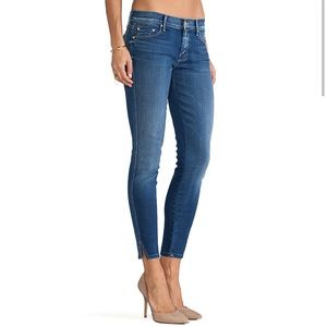 MOTHER The Vamp Cropped Slit Jeans
